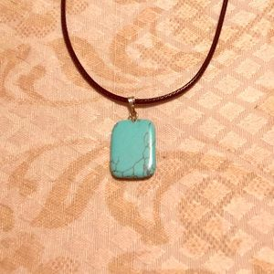 Turquoise Squared Necklace